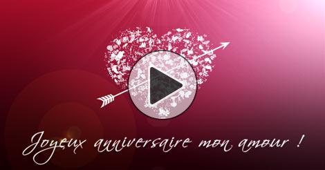 Bien-aimé Joyeux anniversaire mon amour WO74