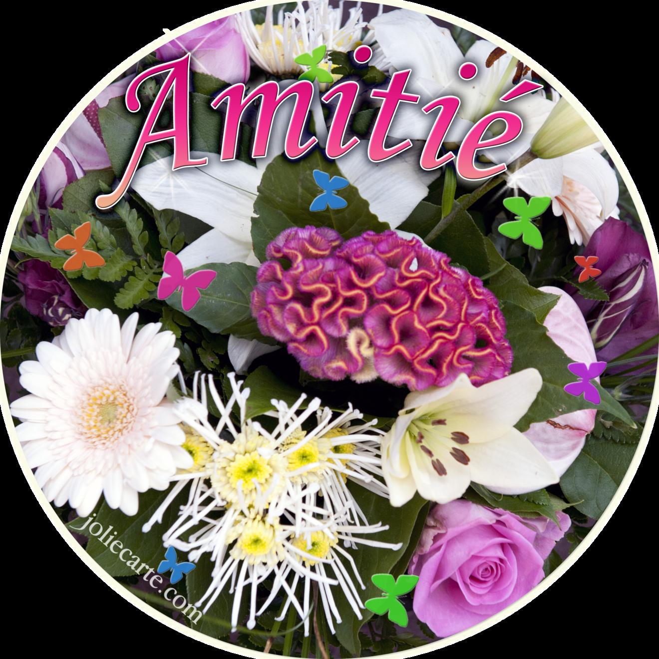 Amitie bouquet rond