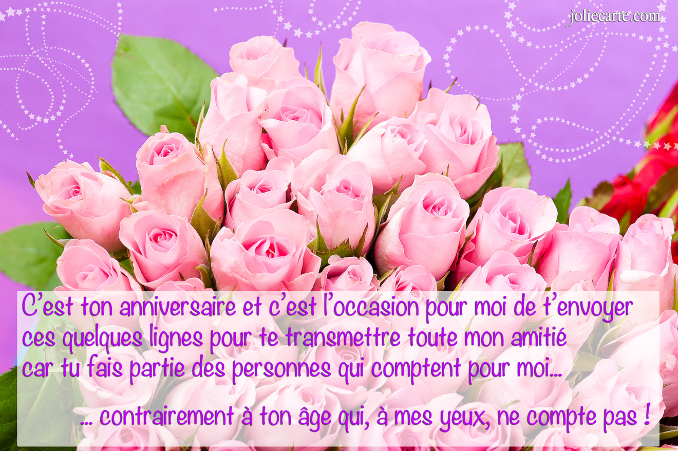 Cartes Virtuelles Anniversaire Amitie Joliecarte