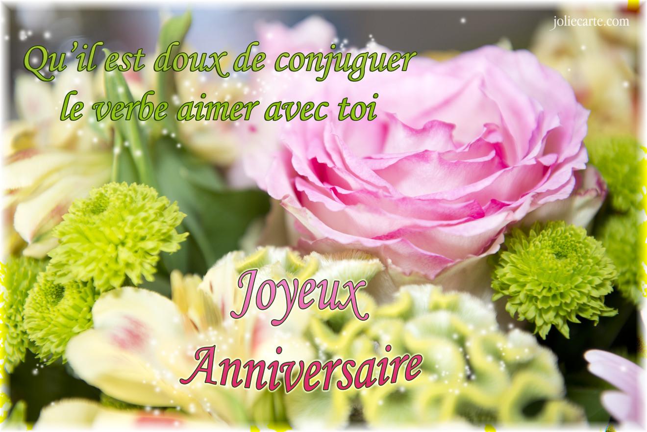 Cartes virtuelles anniversaire amour joliecarte for Bouquet de fleurs pour 60 ans