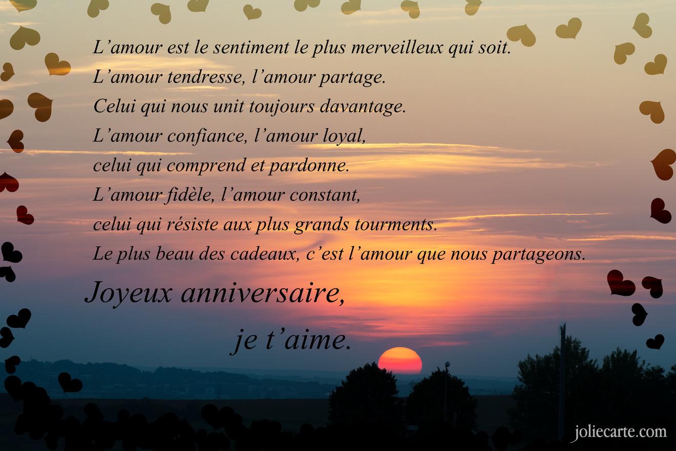 Favori Joyeux anniversaire mon amour ZA15