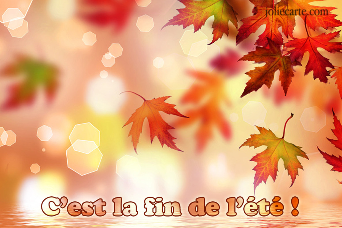Carte fin ete automne