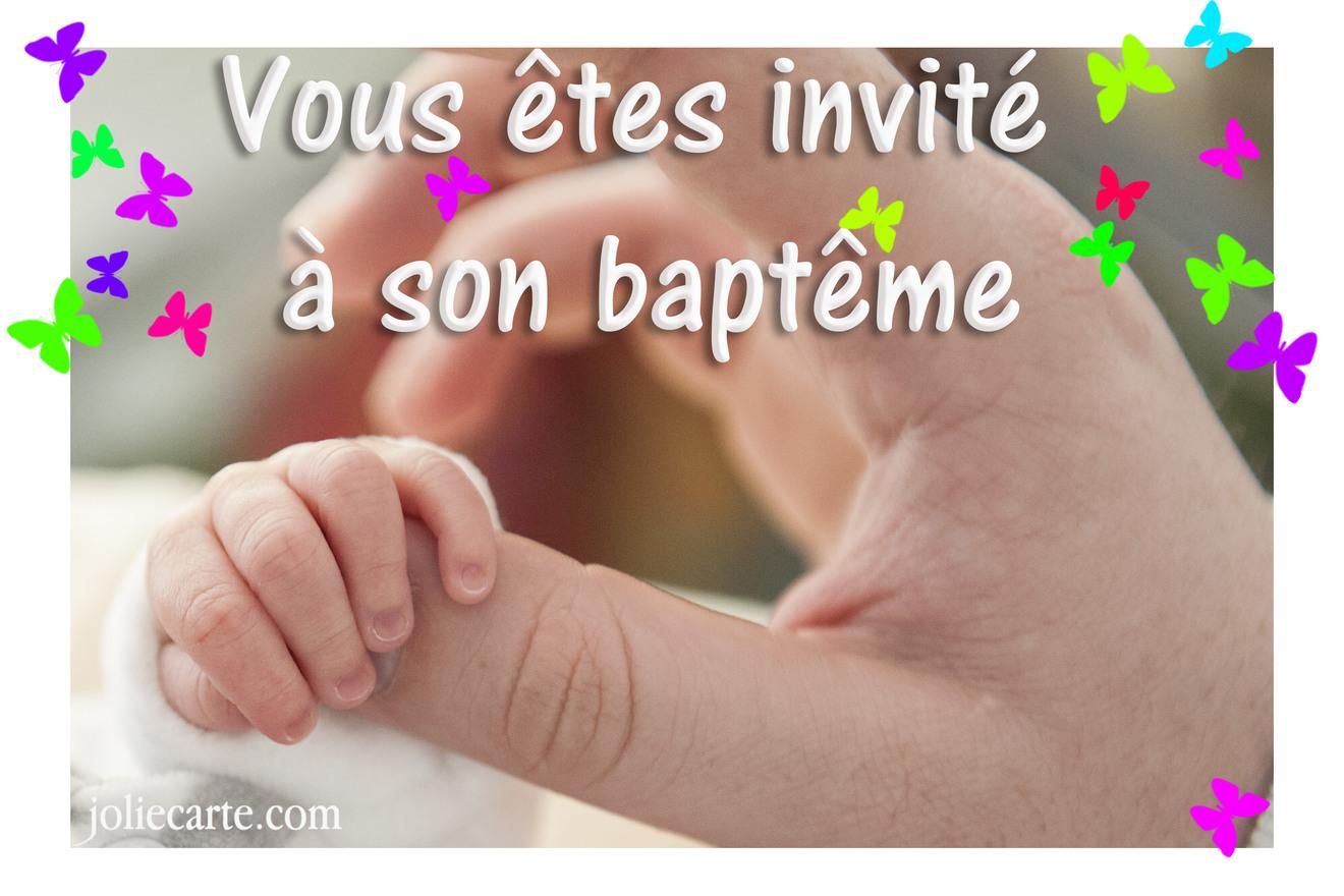 Invitation bapteme