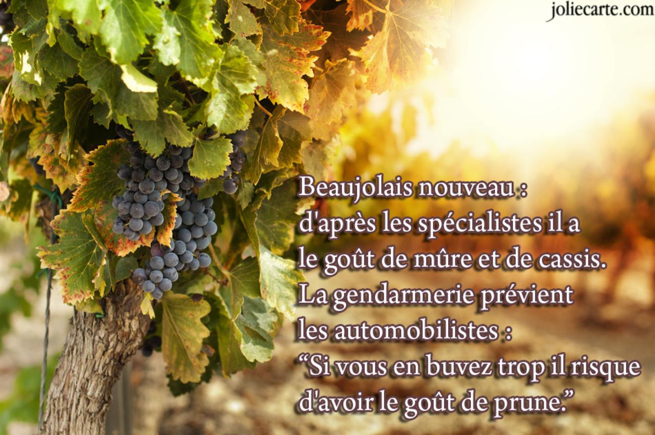 Blague beaujolais nouveau