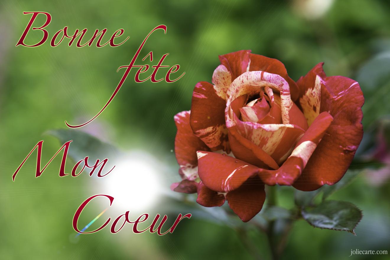 Cartes virtuelles bonne fete mon coeur joliecarte - Bonne fete cheri ...