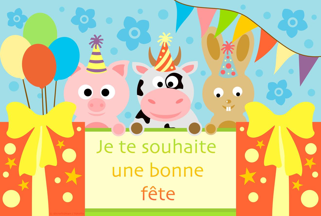 Carte Bonne Fete Fille.Cartes Virtuelles Souhait Fete Enfant Joliecarte