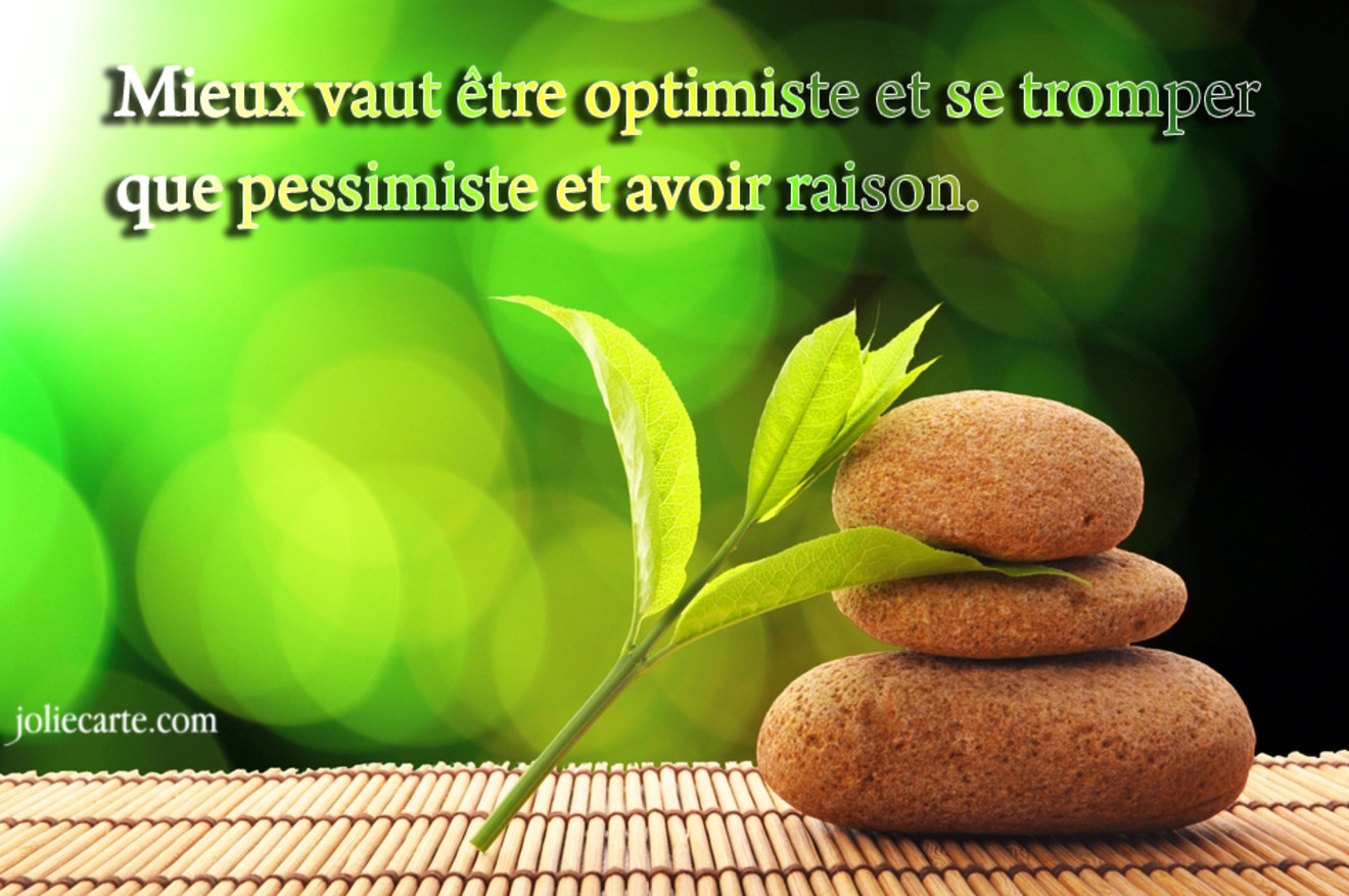 Etre optimiste