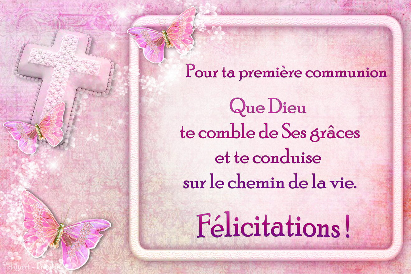 Populaire Cartes virtuelles Communion AD61