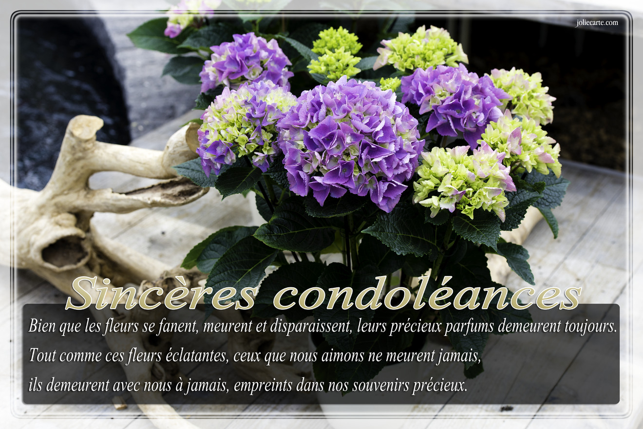 Texte condoleances
