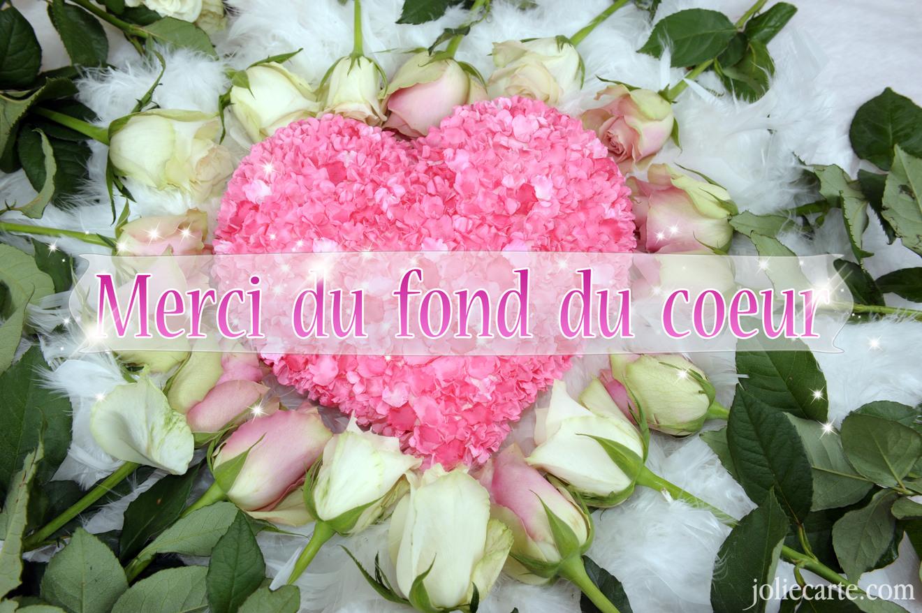 Fabulous Cartes virtuelles coeur merci - Joliecarte KM78