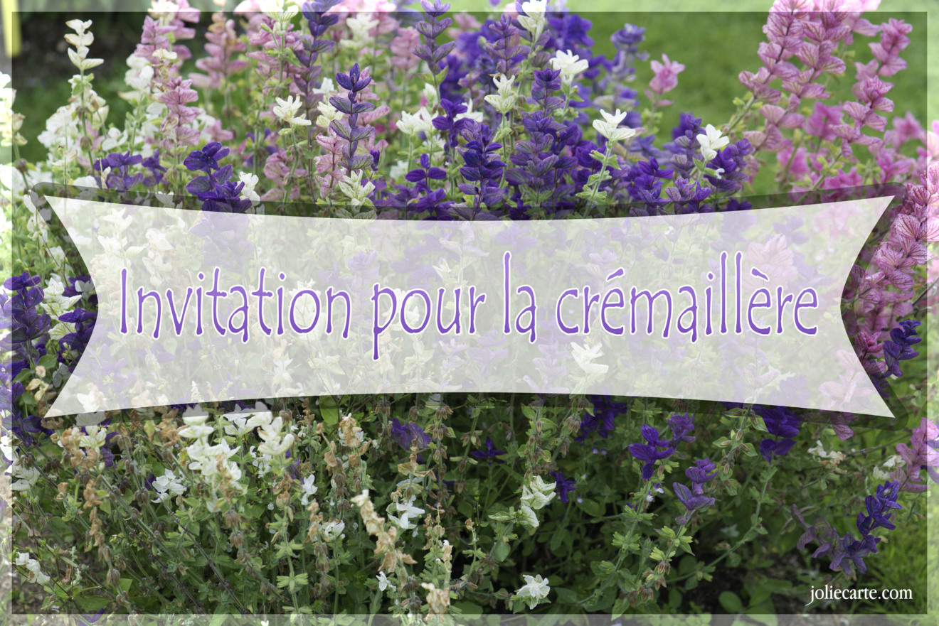 Invitation Cremaillere on mon phrases