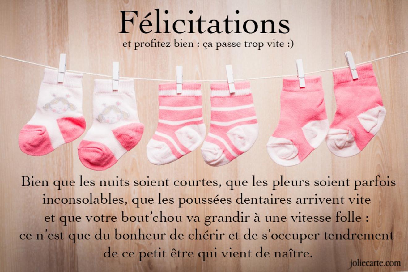 Super Cartes virtuelles felicitation naissance fille - Joliecarte KV28