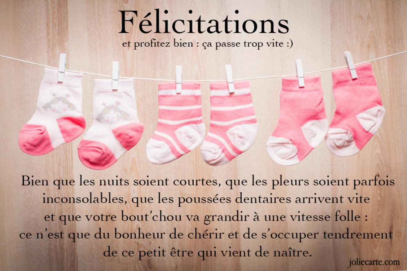 Bien connu Cartes virtuelles felicitation naissance fille - Joliecarte WA08