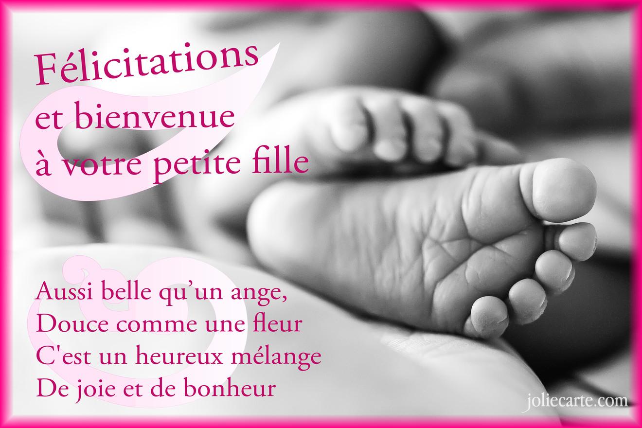 Cartes virtuelles felicitations fille joliecarte for Fleurs pour une naissance