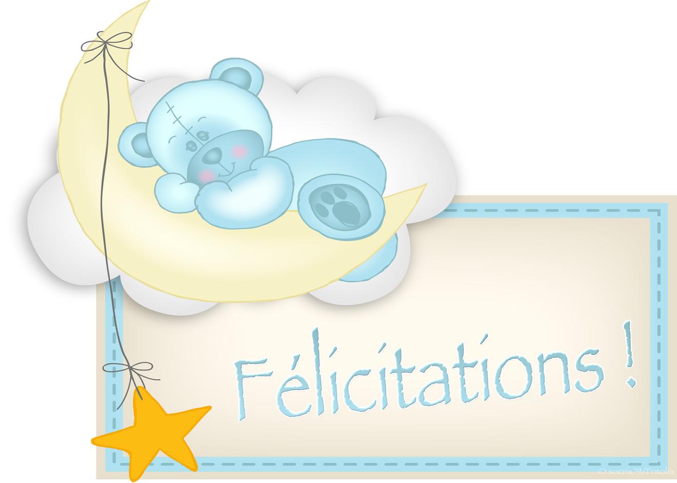 Fabuleux Jolies cartes virtuelles félicitations pour une naissance - 100  PQ38