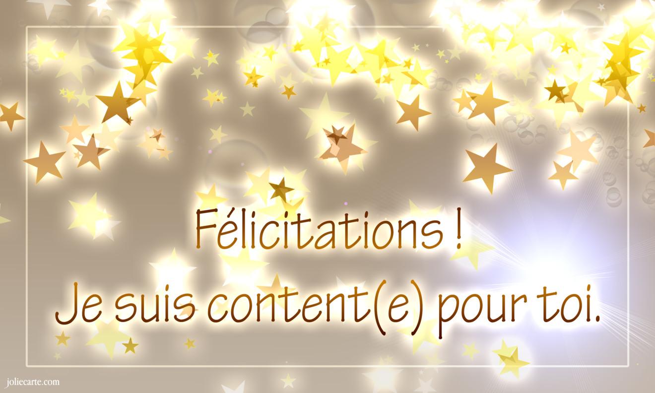 Felicitations content pour toi