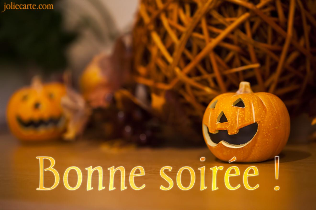 Carte bonne soiree halloween
