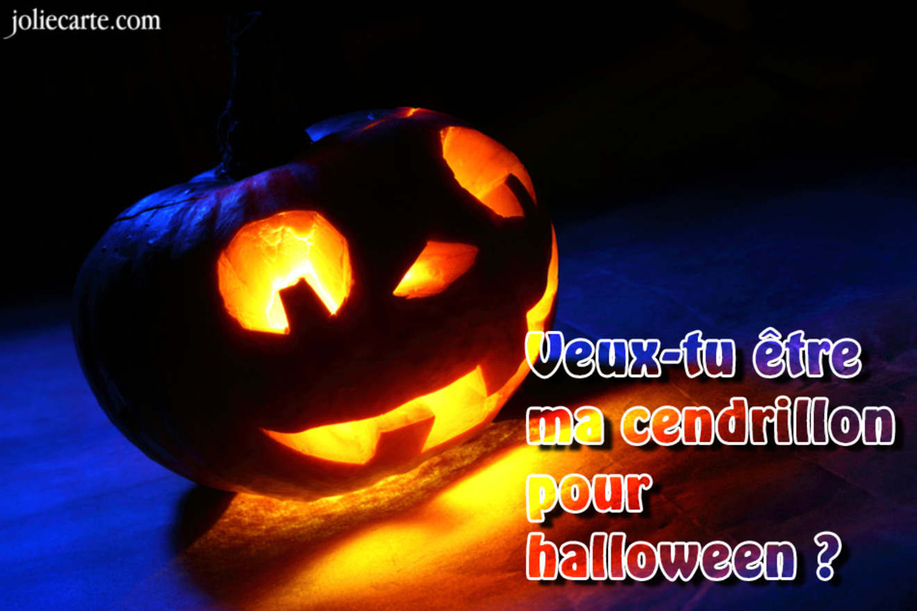 Carte halloween cendrillon