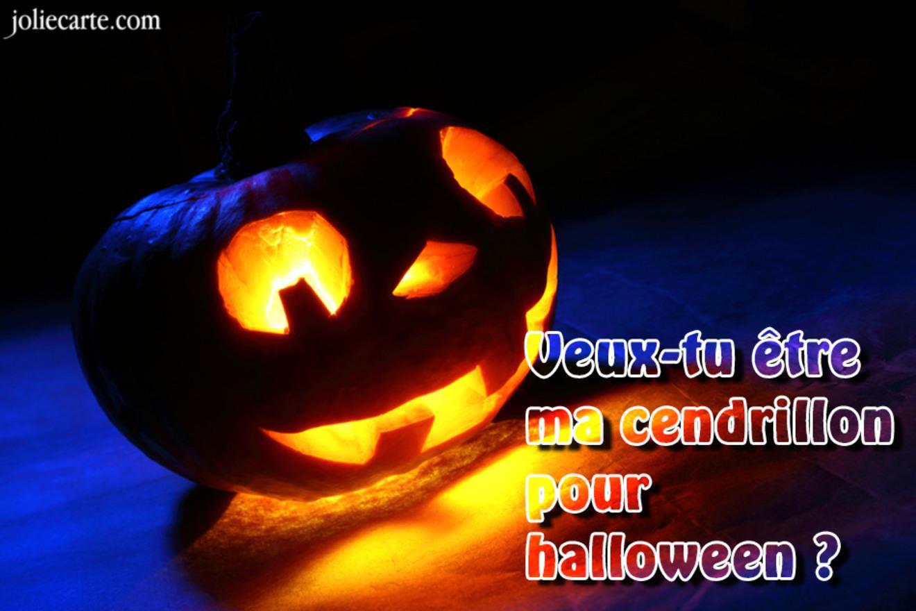 Carte halloween cendrillon
