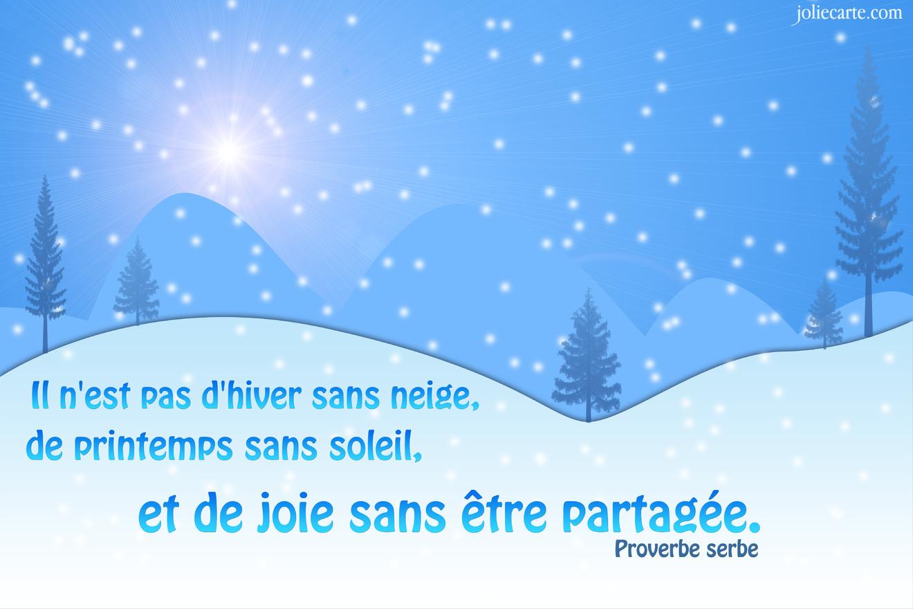 Proverbe hiver