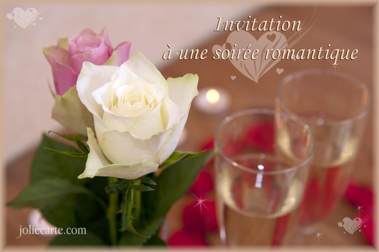 Invitation soire romantique