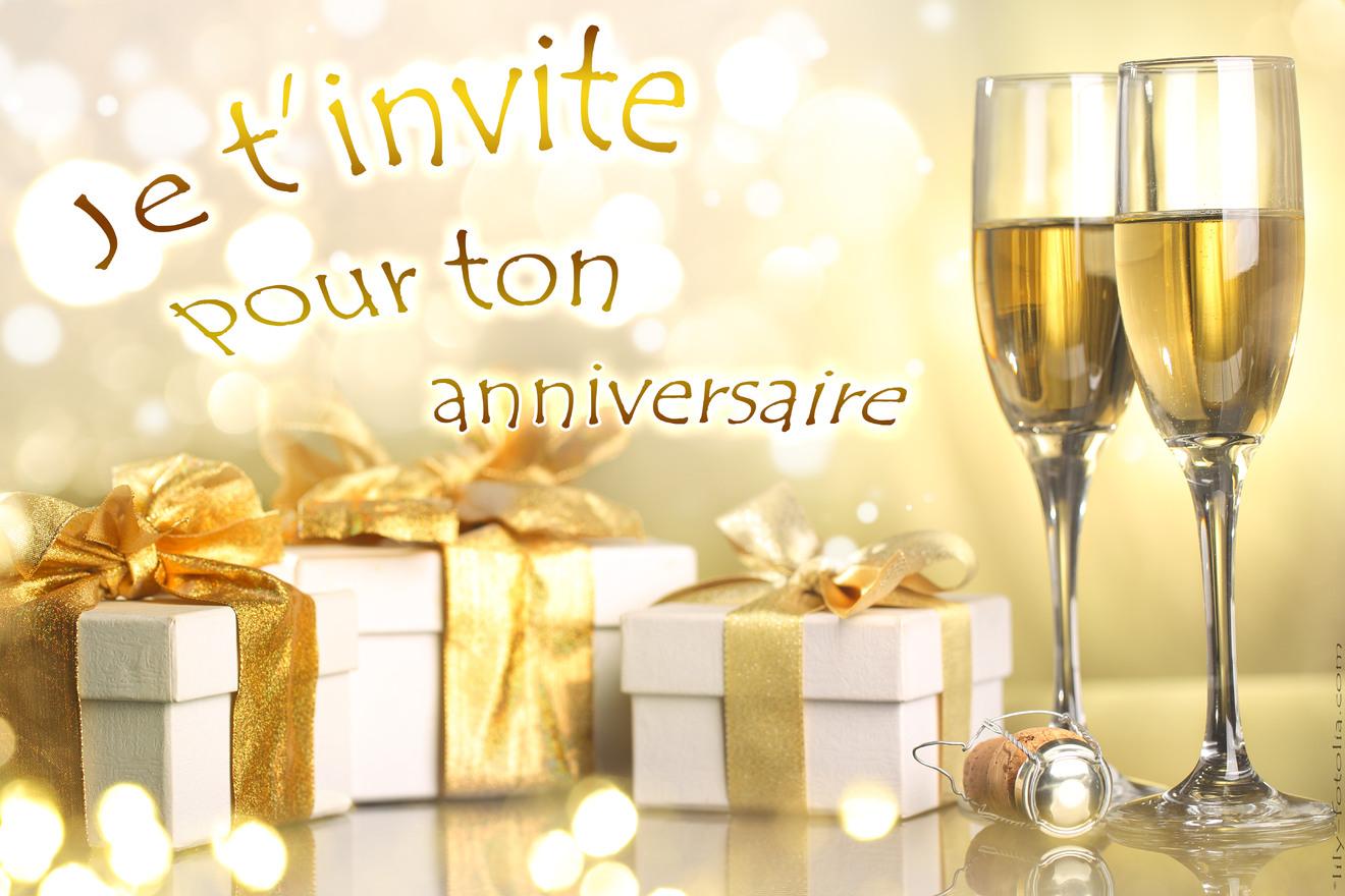 Invitation ton anniversaire