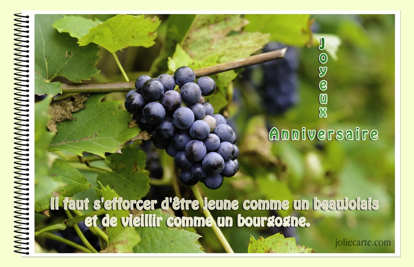 Anniversaire bourgogne