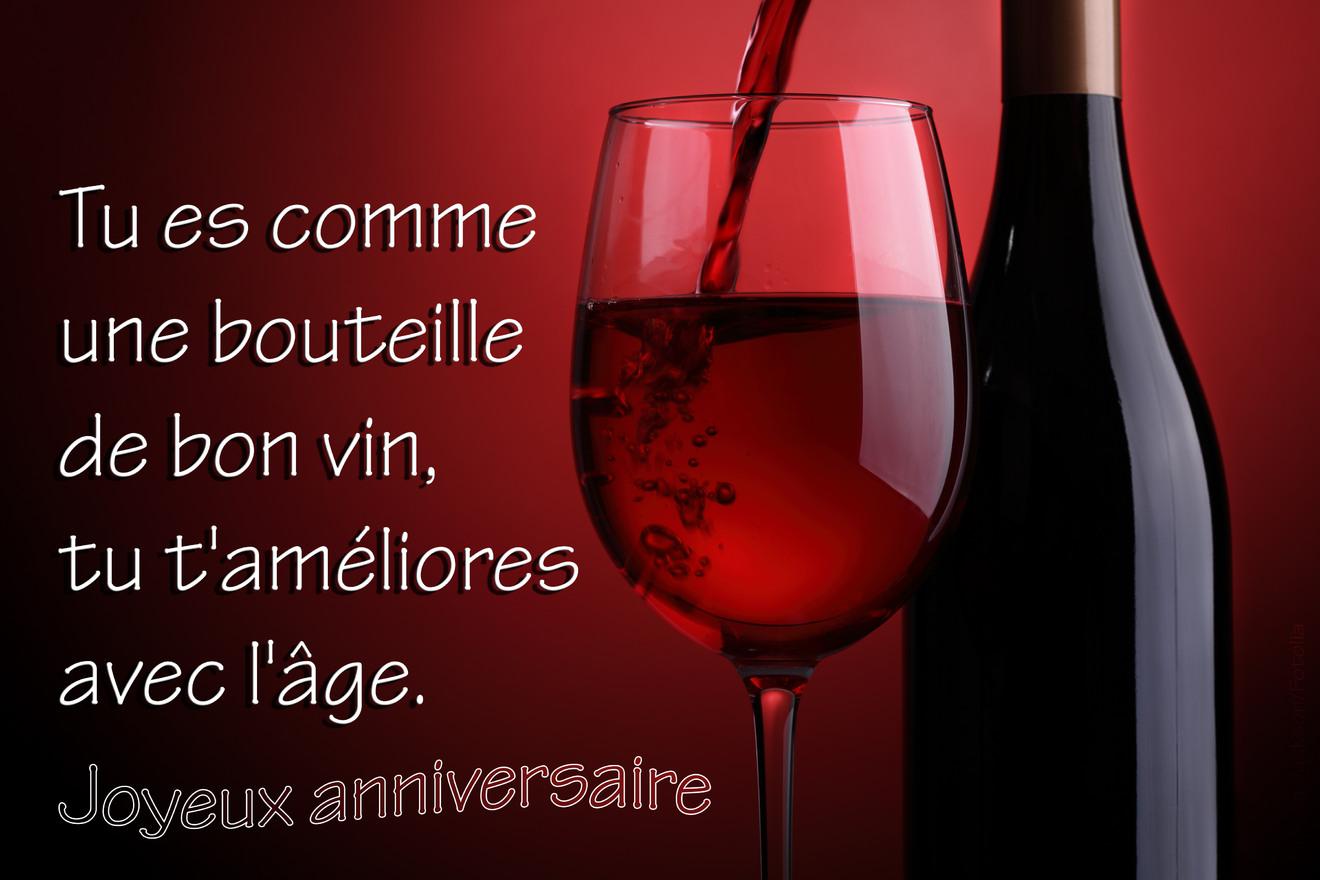 Bouteille vin anniversaire