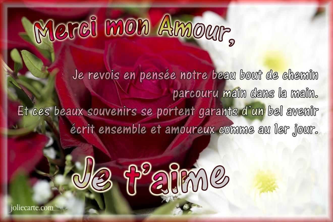 Cartes virtuelles merci amour joliecarte - Carte d amour ...