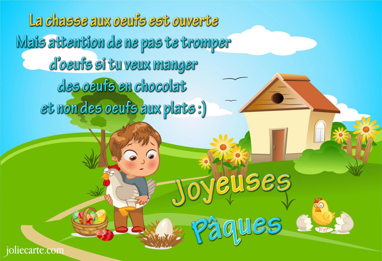 Cartes virtuelles paques chasse aux oeufs joliecarte - Image pour paques gratuites ...