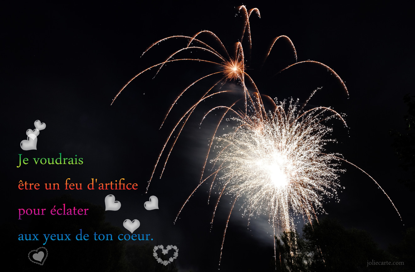 Amour poeme feu artifice