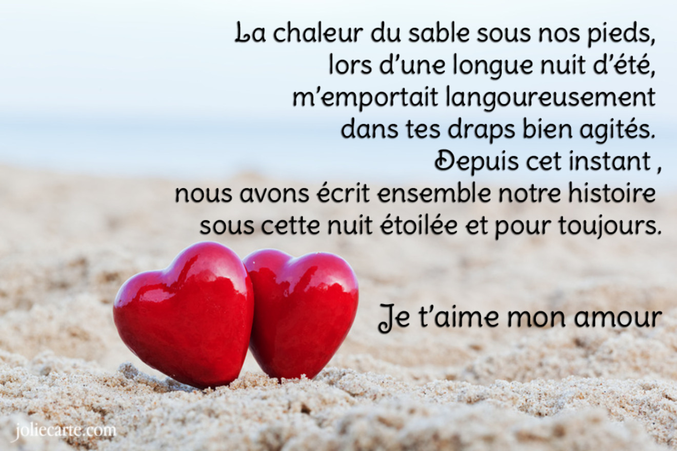 Carte poeme amour