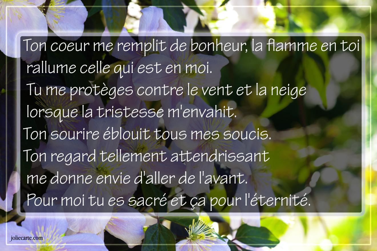 Poeme amour bonheur