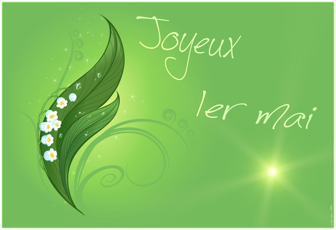 Cartes virtuelles premier mai joyeux - Joliecarte