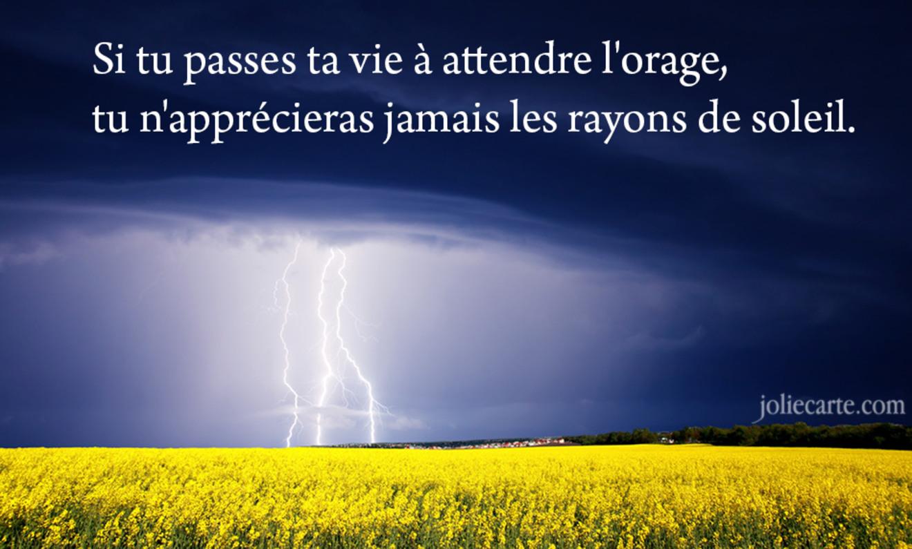 Tu passes apres orage