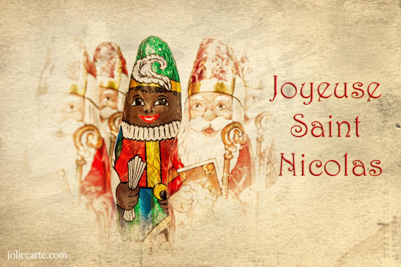 Carte joyeuse saint nicolas