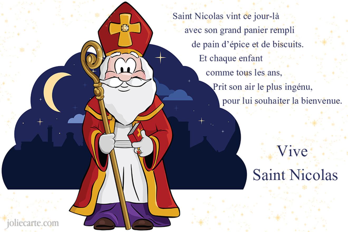 Cartes virtuelles st nicolas joliecarte - Saint nicolas dessin couleur ...