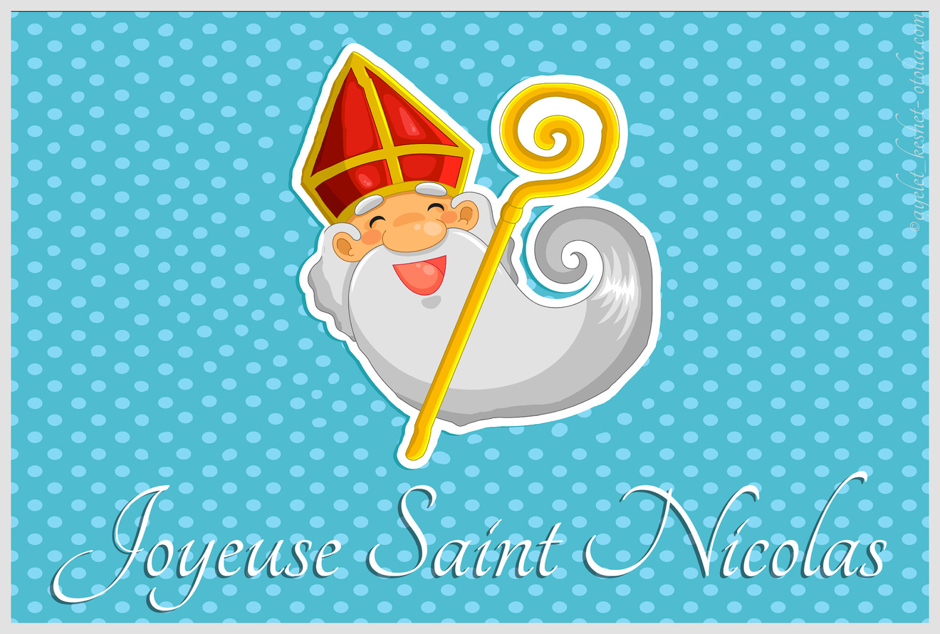 Très Cartes virtuelles image saint nicolas - Joliecarte DD84