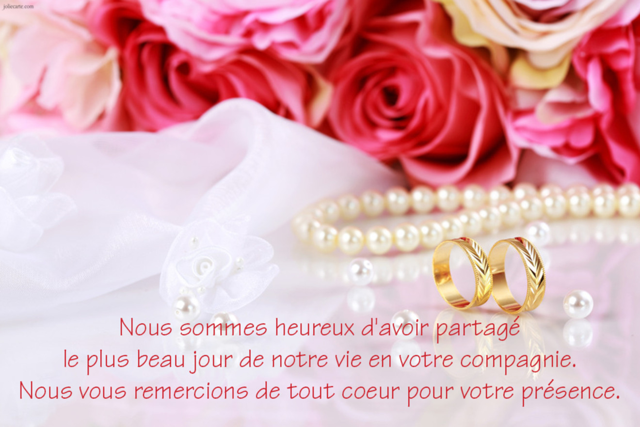 Cartes virtuelles mariage texte remerciements joliecarte - Texte felicitation mariage original ...