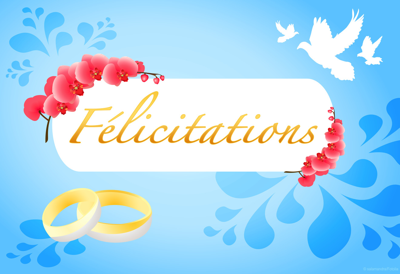 Felicitations mariage