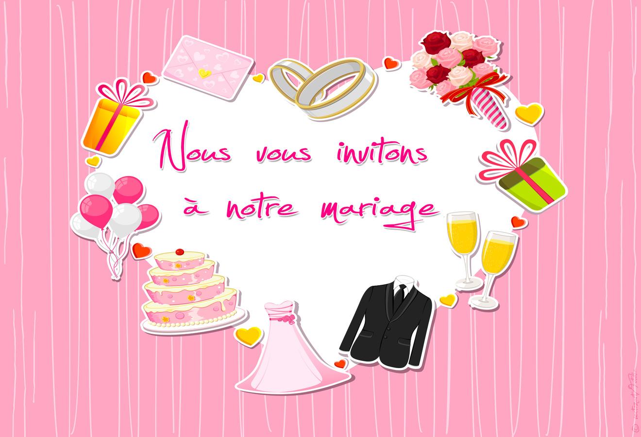 Cartes Virtuelles Invitation Mariage Joliecarte