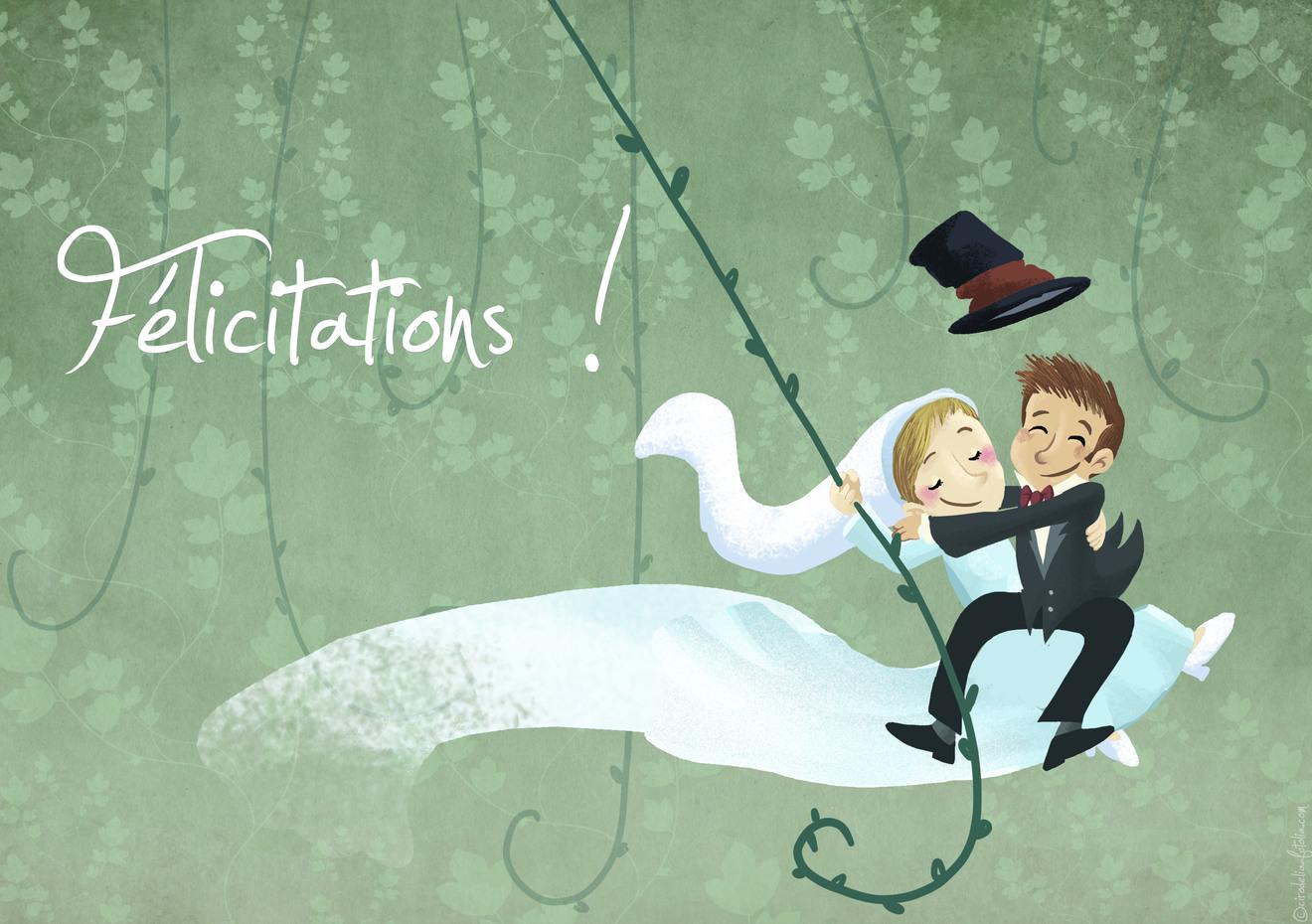 Mariage felicitation 2