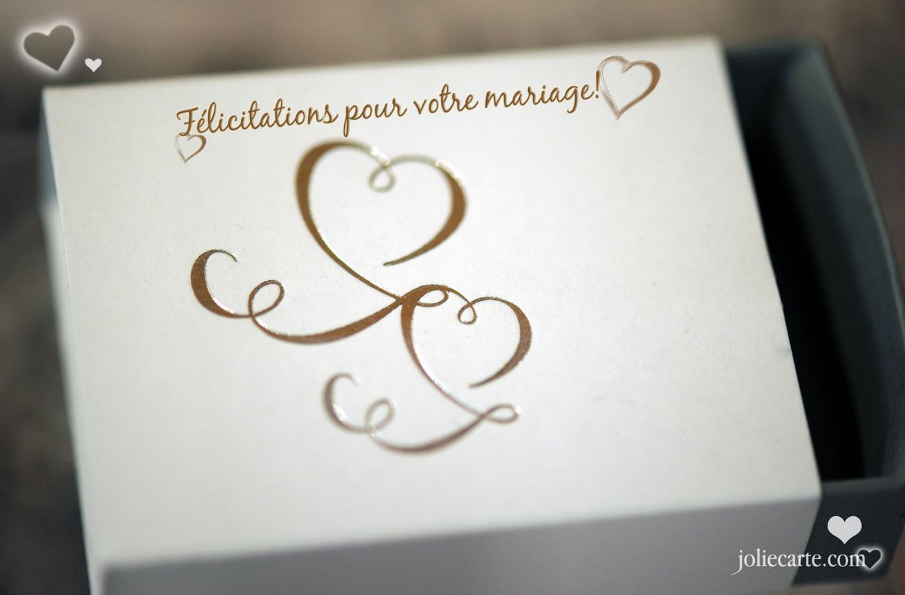 Mariage felicitation