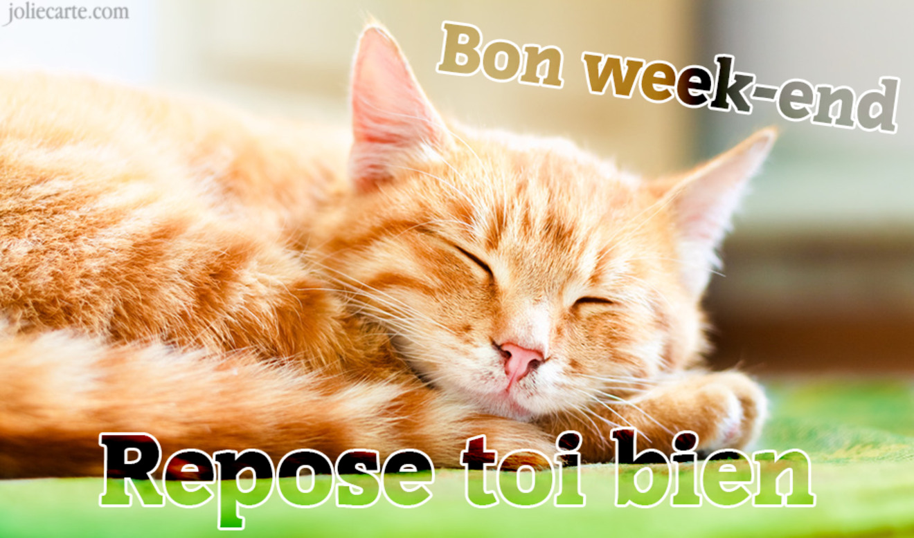 Bon week end chat