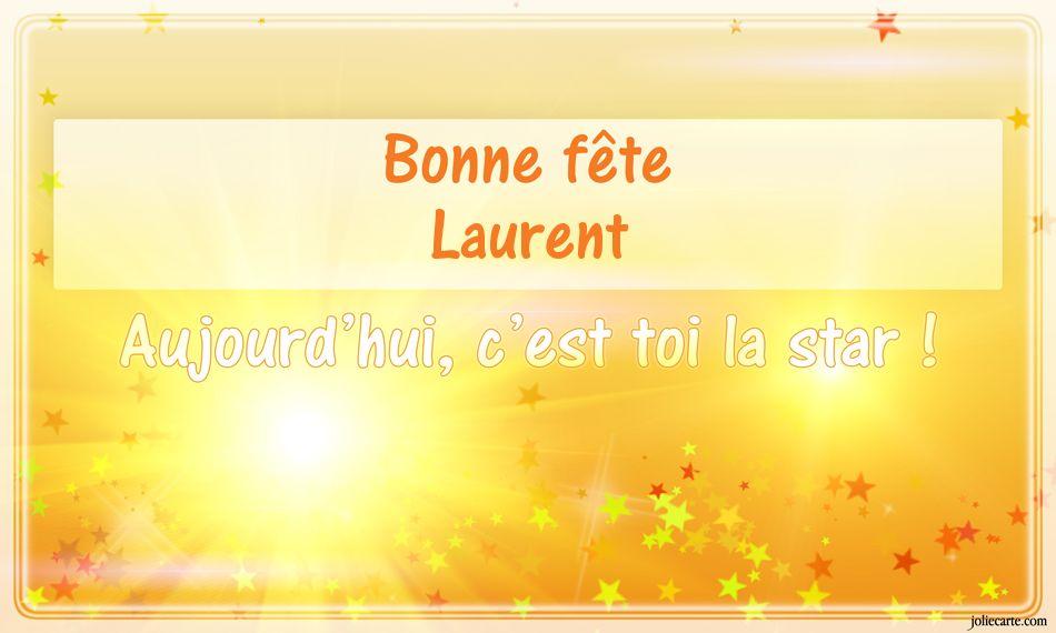 Carte Bonne Fete Laurent.Cartes Virtuelles Bonne Fete Laurent