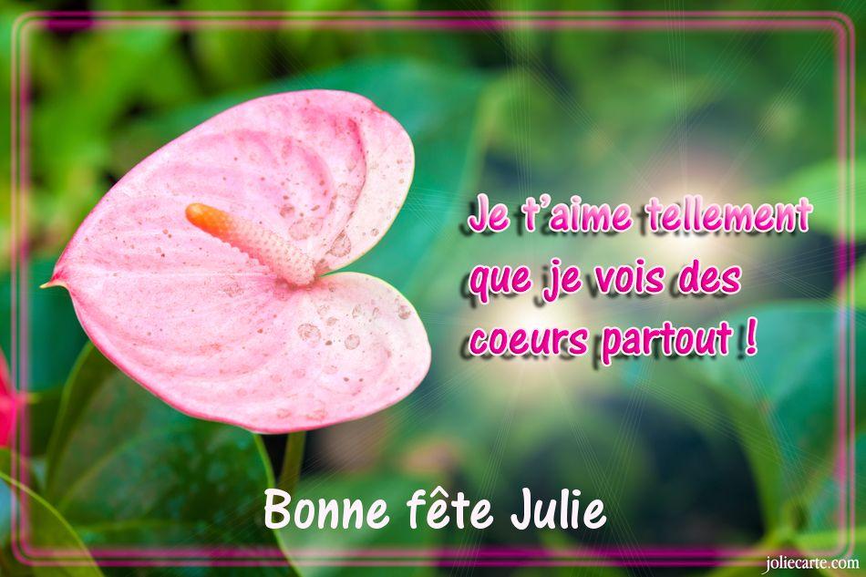 Carte Bonne Fete Julie Gratuite.Cartes Virtuelles Bonne Fete Julie