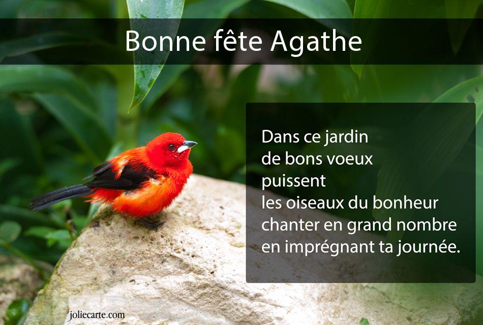 Cartes virtuelles bonne f te agathe for Le jardin d agathe 19