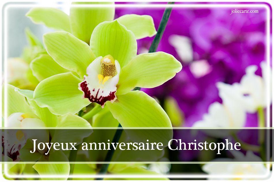 Fabuleux Cartes virtuelles joyeux anniversaire Christophe OJ14