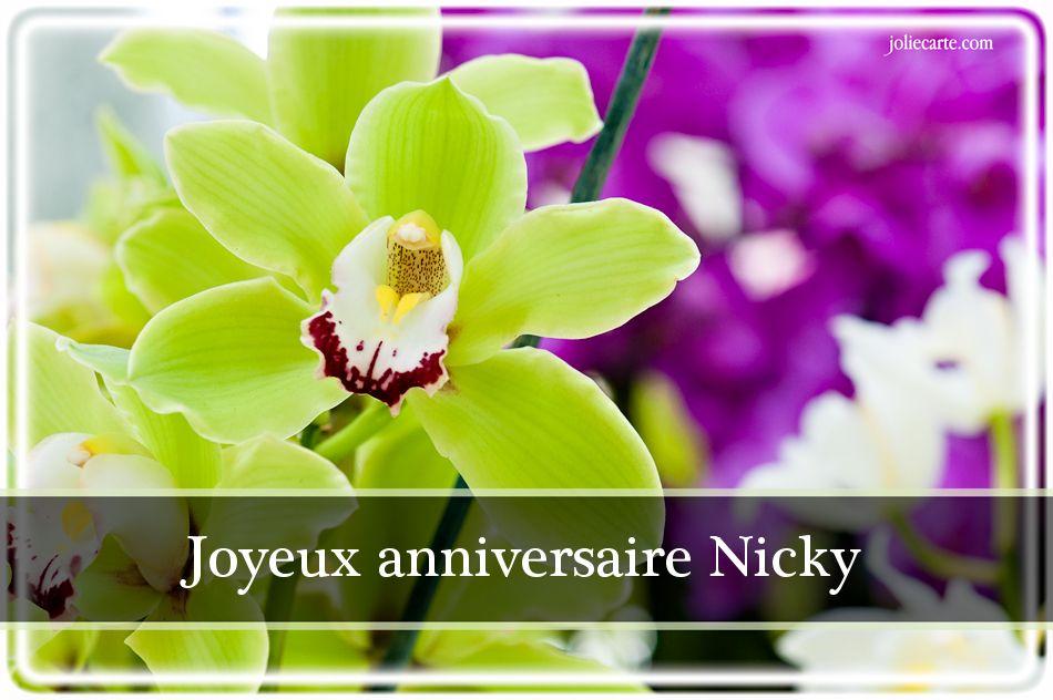 JOYEUX ANNIVERSAIRE NICKY Nicky