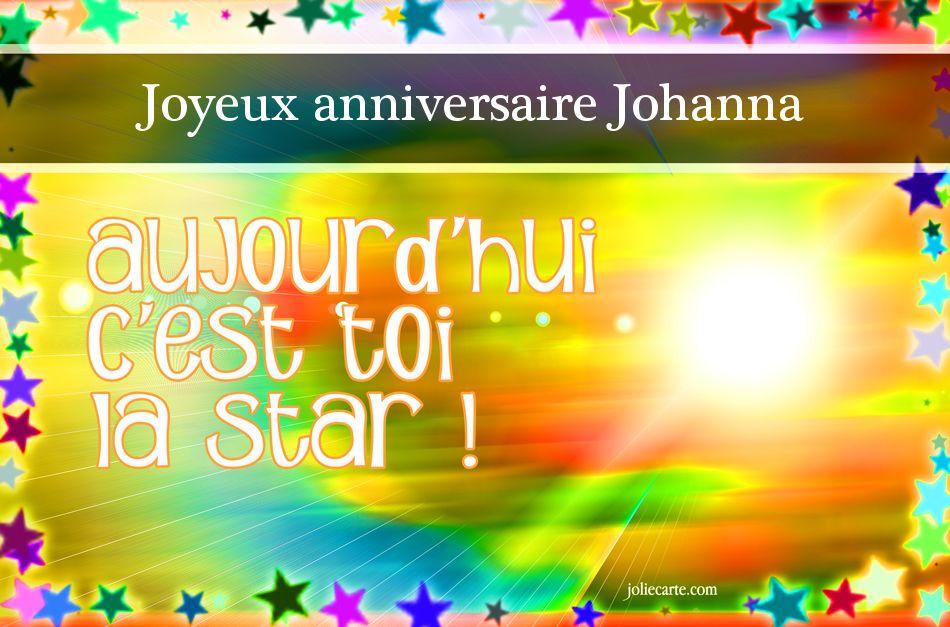 Joyeux Anniversaire Johanna Anniversaire